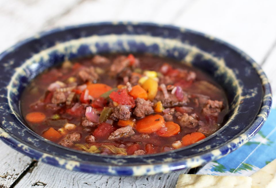 Hamburger Soup, Crockpot
