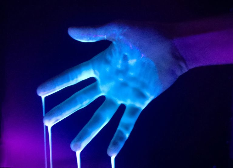 Glowing slime is easy to make and safe for kids.