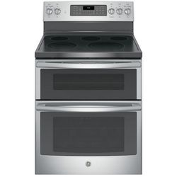 GE 6.6 cu. ft. Double Oven Electric Range with Self-Cleaning Convection Oven (Lower Oven Only) in Stainless Steel