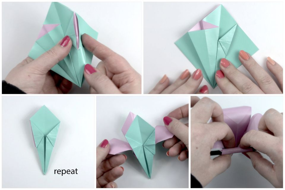 How to make an easy origami flower origami flower tutorial 06 mightylinksfo Image collections