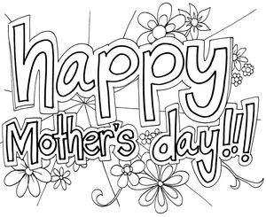 coloringstars mothers day coloring pages - Mothers Day Coloring Pages Free