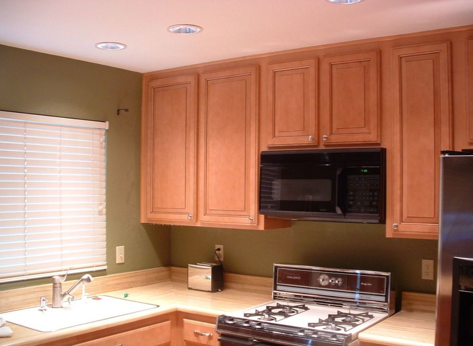 Ways to fix space wasting kitchen cabinet soffits for 7 x 9 kitchen cabinets