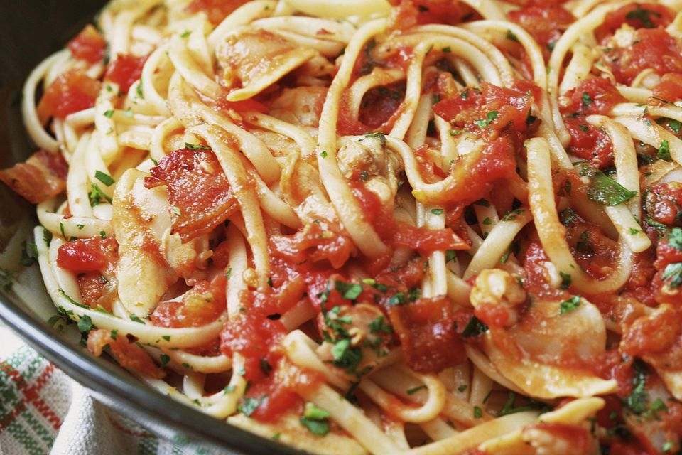Pasta with Red Clam Sauce Recipe