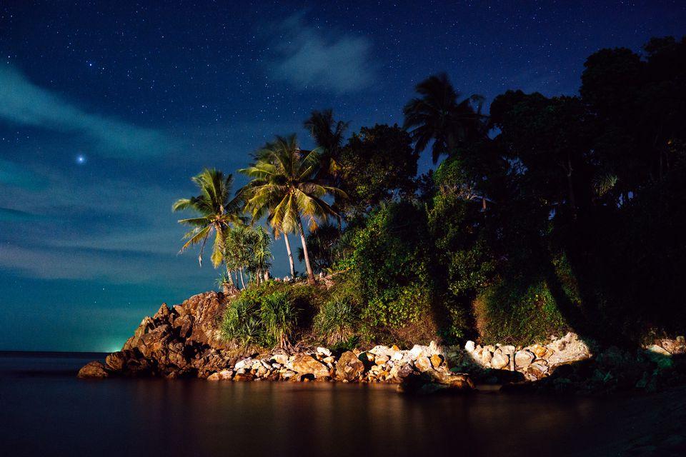 Koh Lanta in Thailand at night