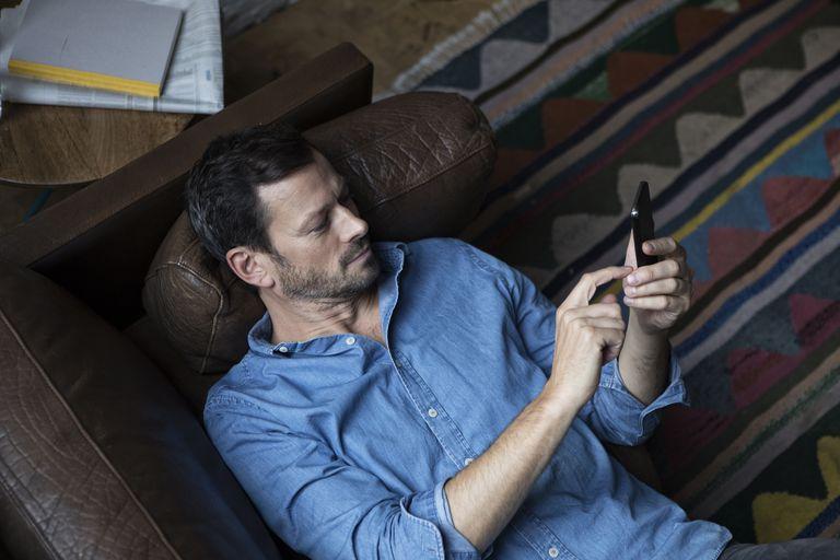 Man Texting.