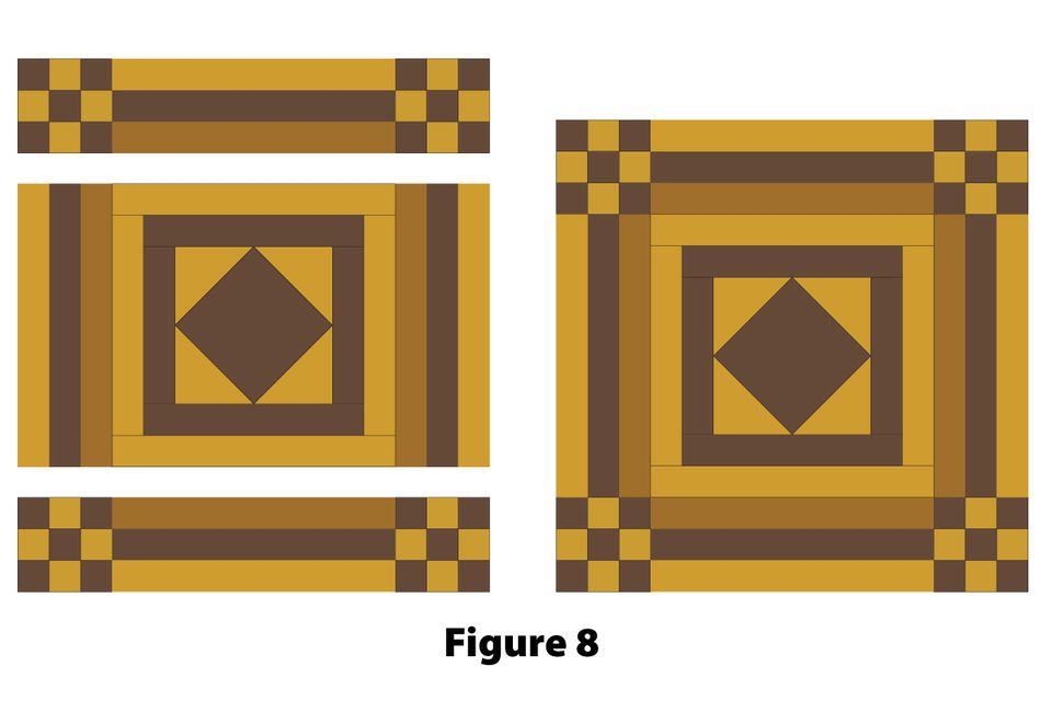 15 Quot Quilt Block Pattern Nine Patch With Logs