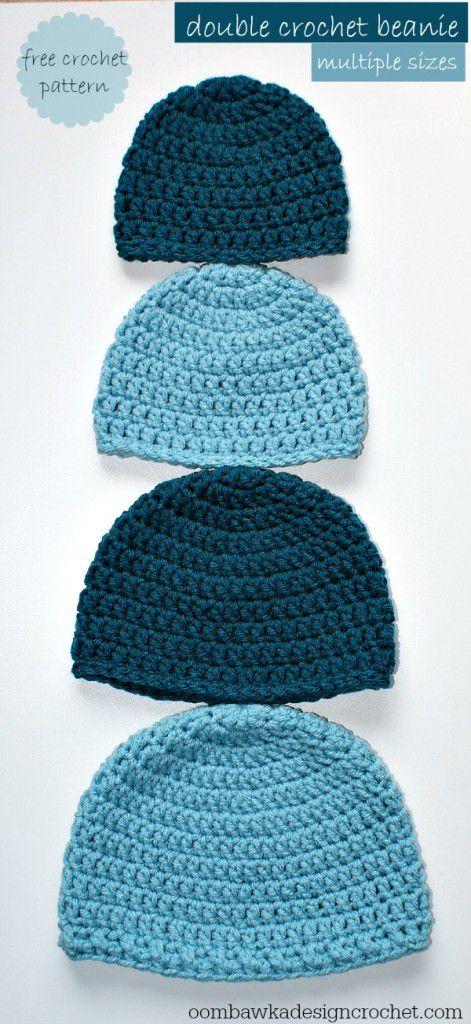 Double Crochet Beanie Free Hat Pattern