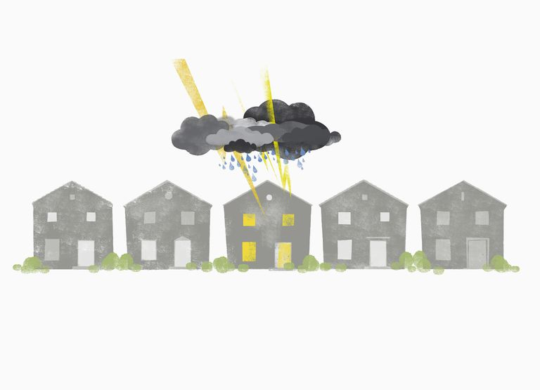 perils that can damage homes - row of houses