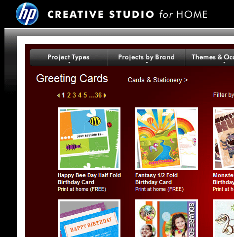 Free greeting card templates for all occasions hp creative studio for home greeting cards m4hsunfo Gallery