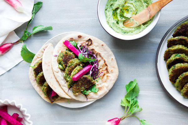 falafel and pita