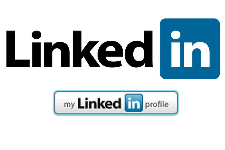 LinkedIn.com logo and My Profile Button