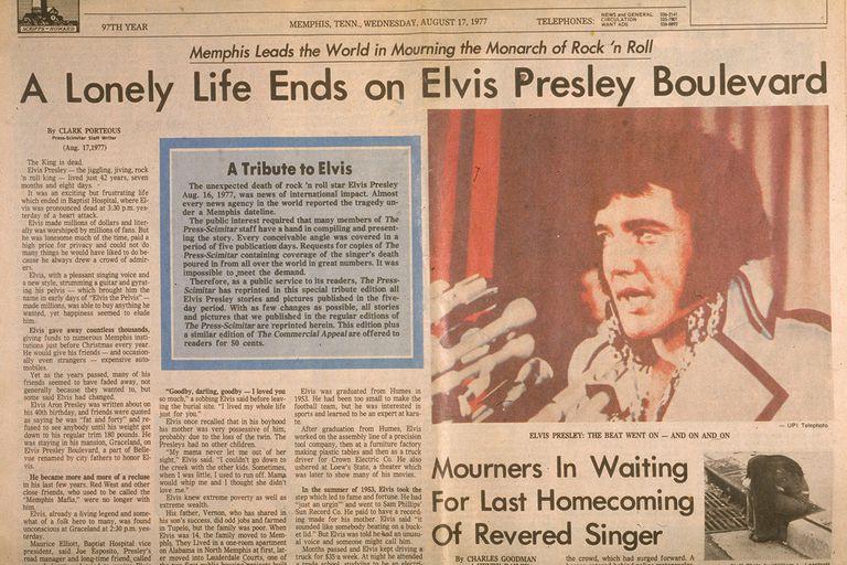 Elvis Presley death