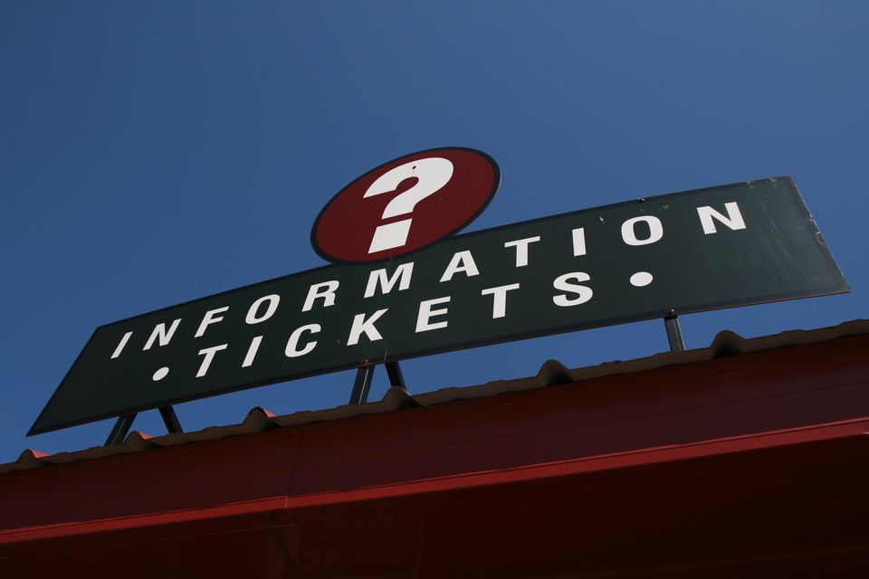 Low Angle View Of Information Sign On Roof Against Clear Blue Sky