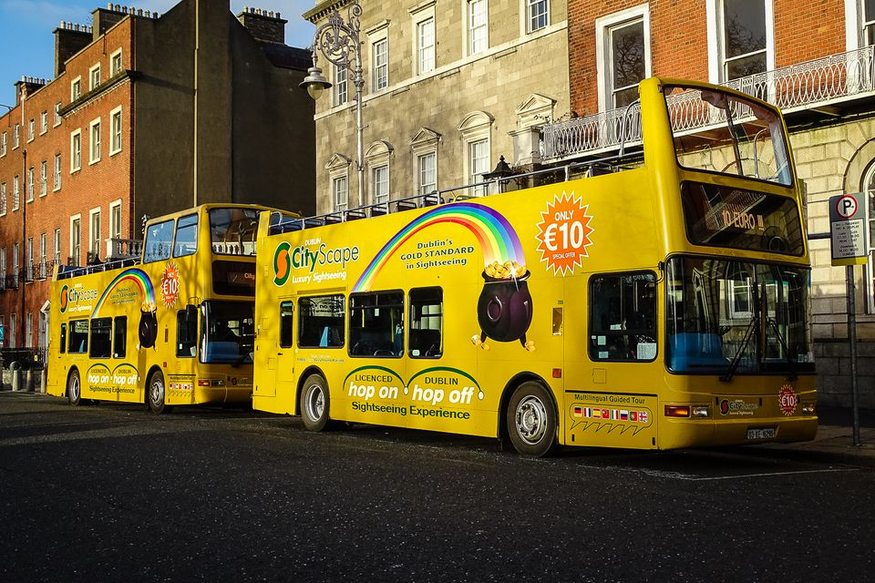 Hopping on a hop-on-hop-off city tour might be the best way to explore Dublin ... for a novice at least