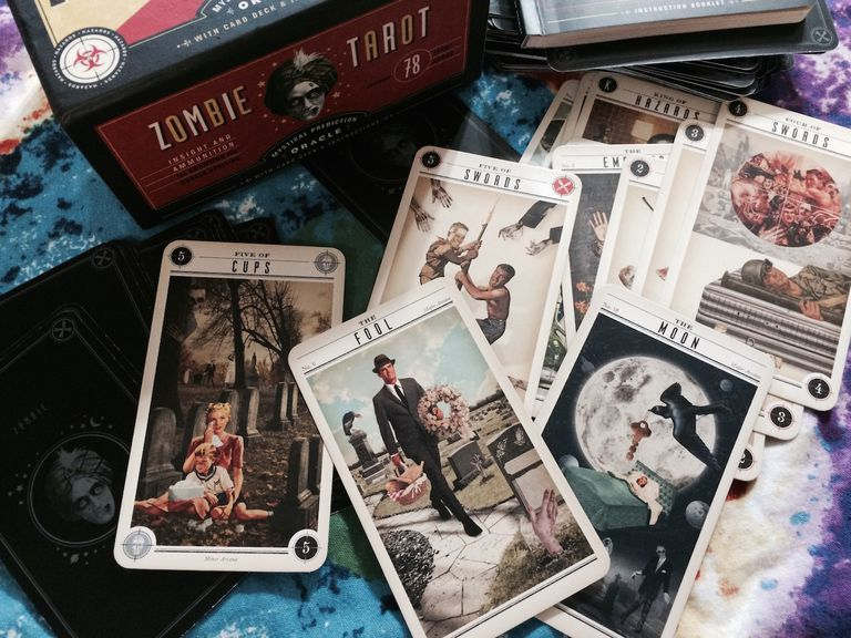 Review the zombie tarot deck for Zombie balcony