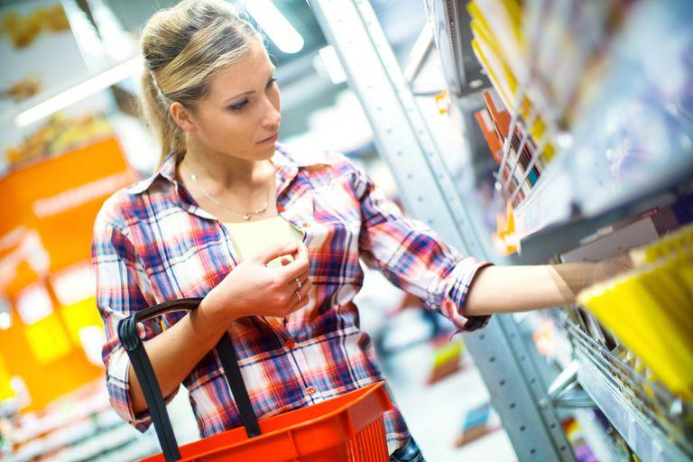 Woman shopping for school supplies