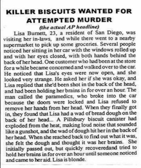 Killer Biscuits Wanted for Attempted Murder