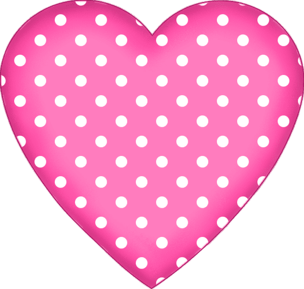 Polka-Dot Pink Heart