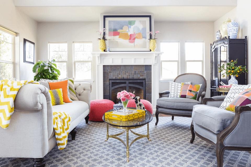 21 colorful living room designs. Black Bedroom Furniture Sets. Home Design Ideas