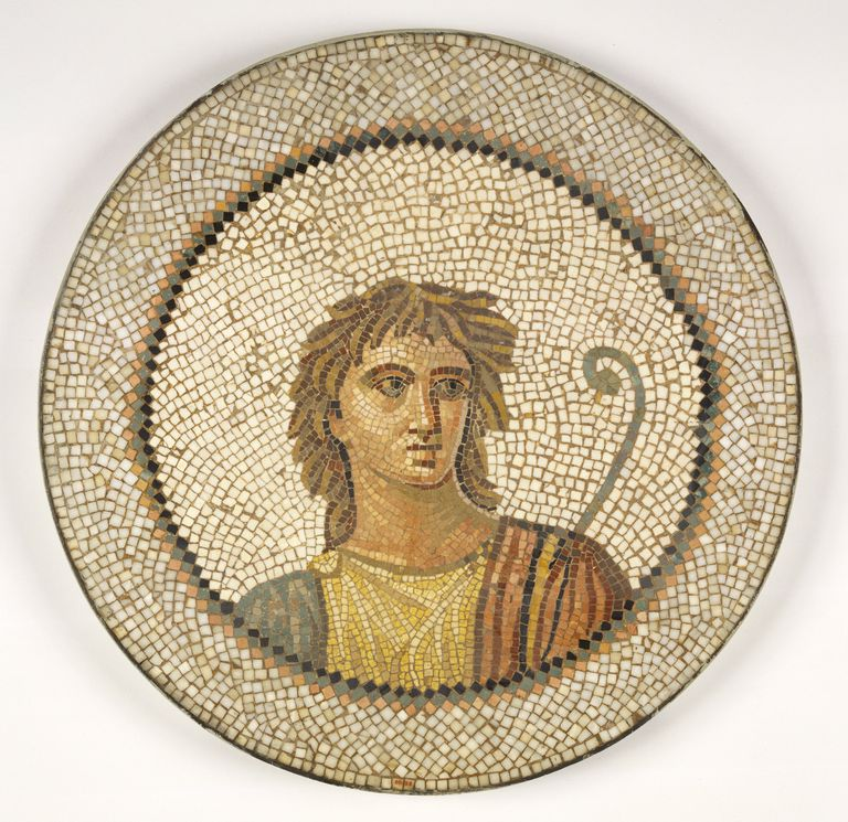 Mosaic of Male Figure in Medallion