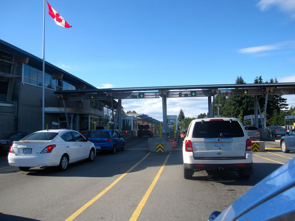 US / Canada Border in Blaine, Washington