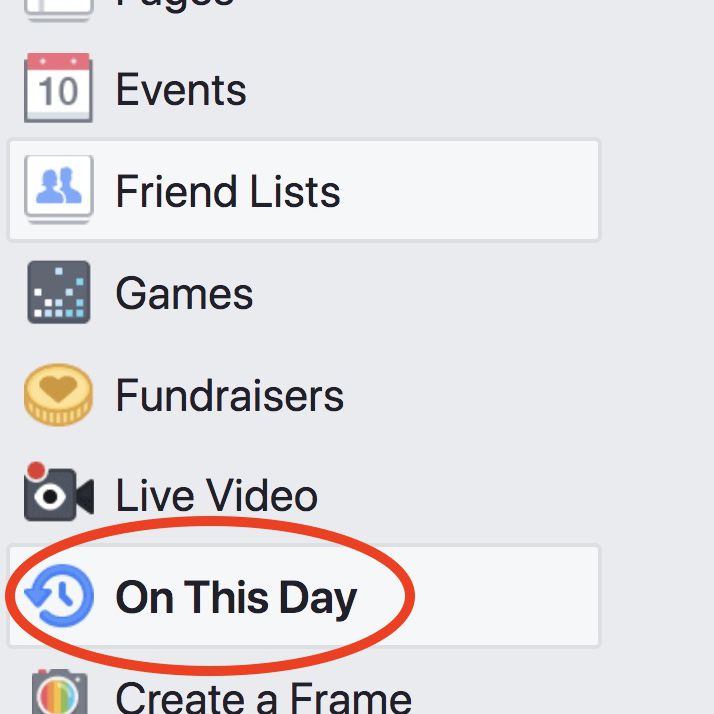 The On This Day feature controls Facebook Memories.