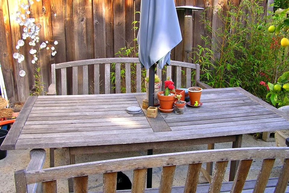 outdoor teak table - Garden Furniture Stain
