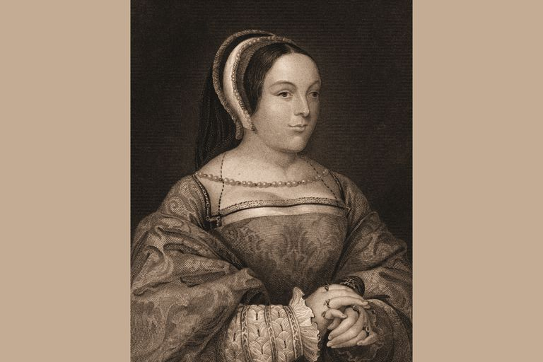 Margaret Tudor, from an engraving b y R Cooper after Hans Holbein
