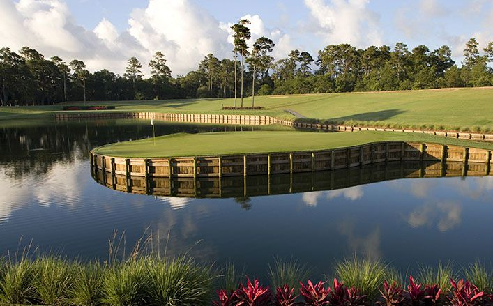 The 17th Island Green at TPC Sawgrass