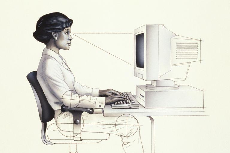 Ergonomics and good sitting posture.