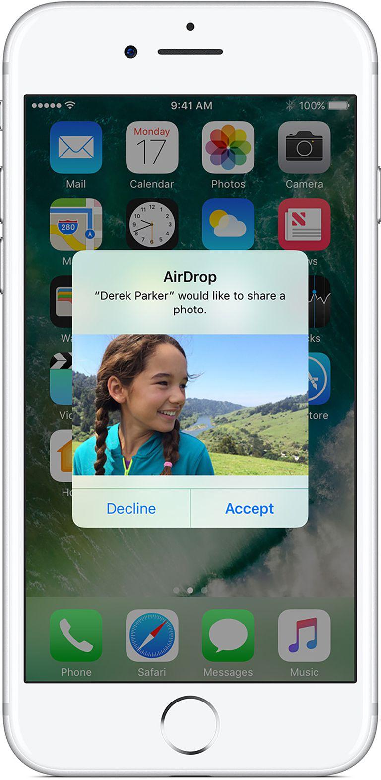 menggunakan airdrop pada iPhone, langkah 4