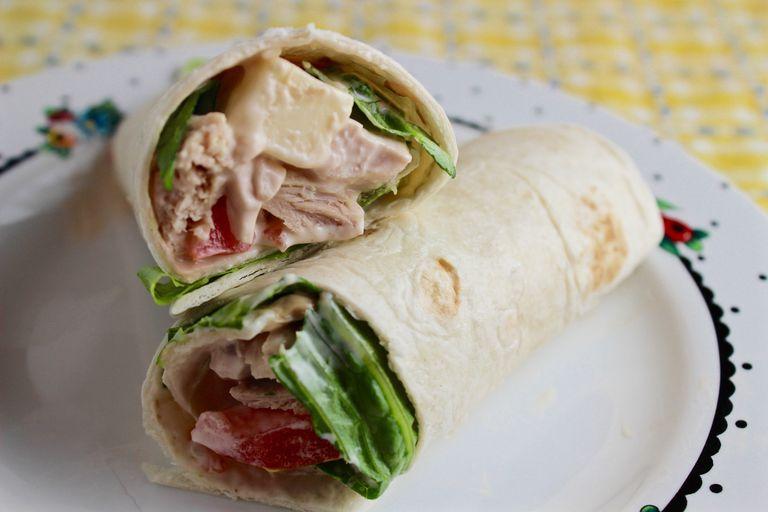 Chicken Tomato Wrap Sandwiches