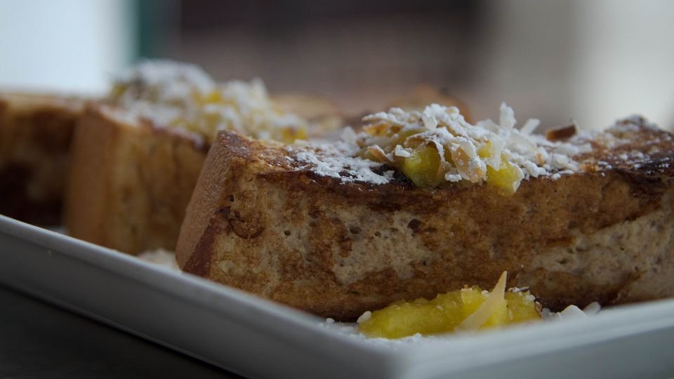 Coconut French toast at Caficultura