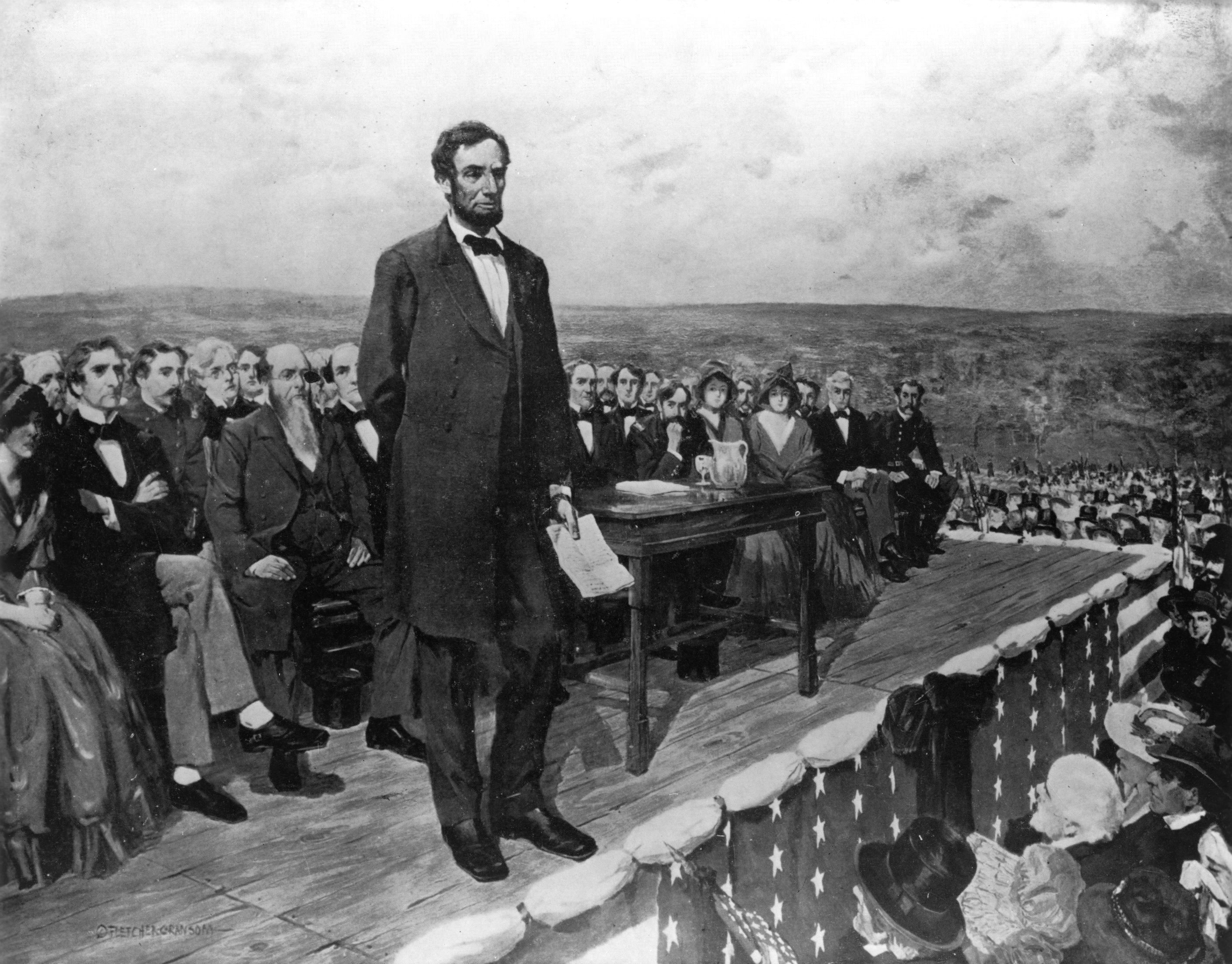 the rhetorical strategies used by abraham lincoln in the gettysburg address Abraham lincoln's gettysburg address is one of the most famous, most quoted, and most recited speeches of all time it is also one of the shortest among its peers at just 10 sentences in this article, we examine five key lessons which you can learn from lincoln's speech and apply to your own .