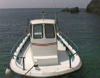 The passenger boat for Sweetwater Beach