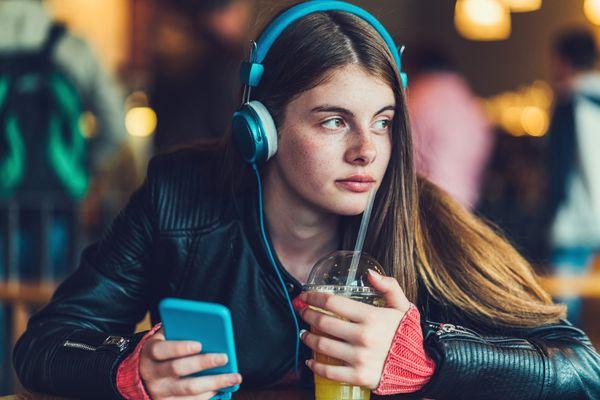 Teenage girl studying foreign language