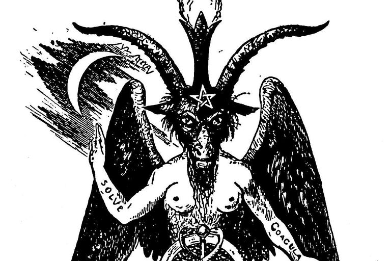 The Demon as the embodiment of a dualistic world. Drawing by Eliphas Lévi