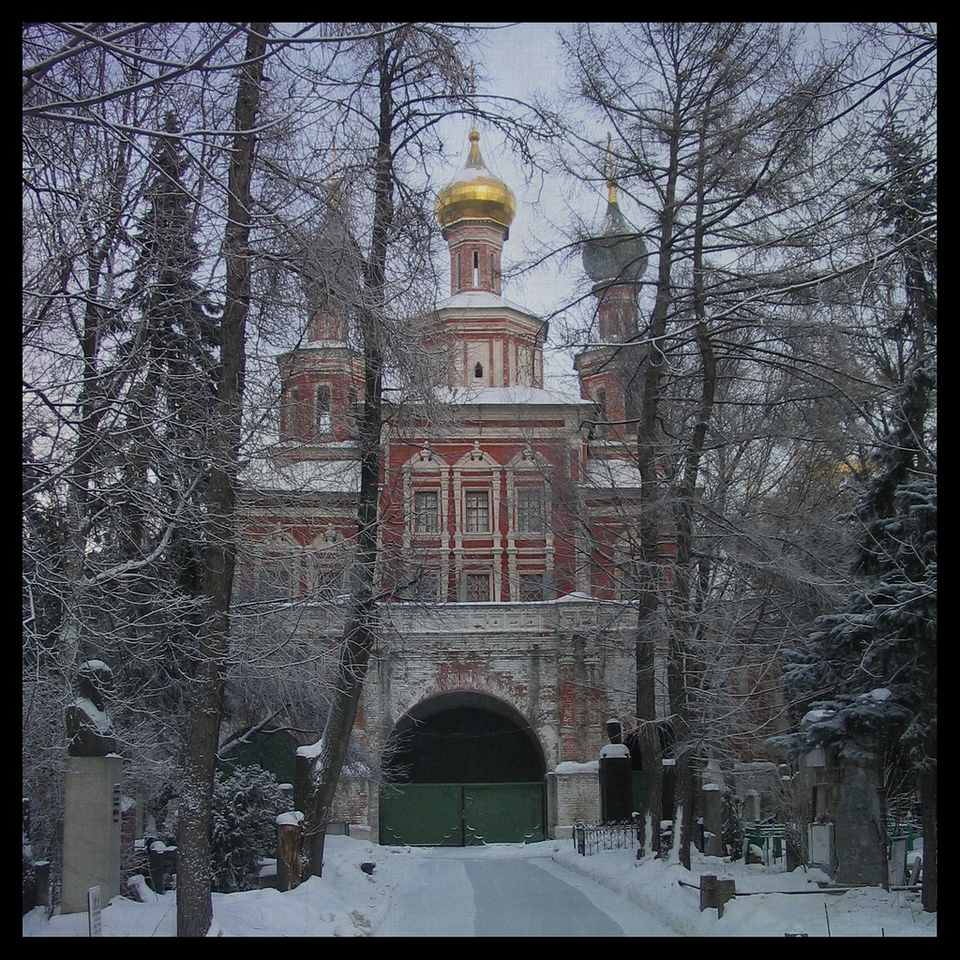 Novodevichy Convent, Moscow, in January