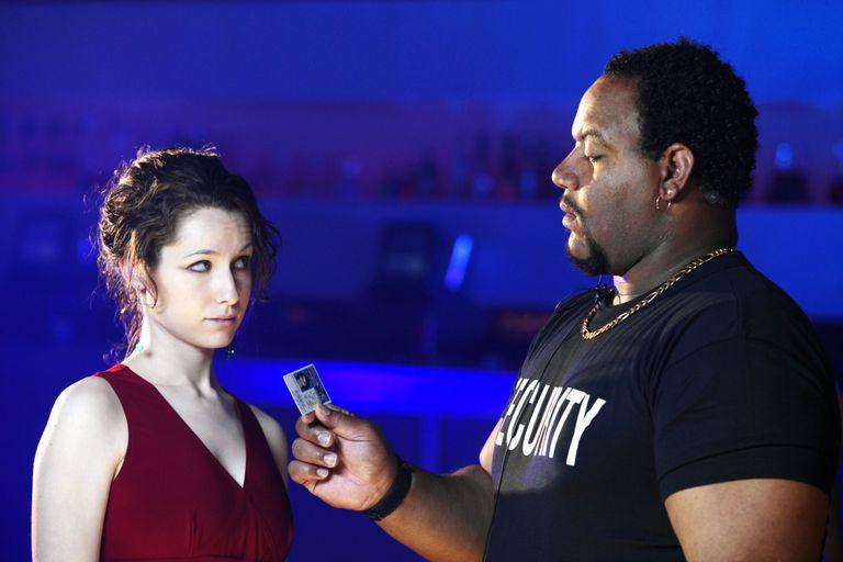 Bouncer Checking Girl's ID