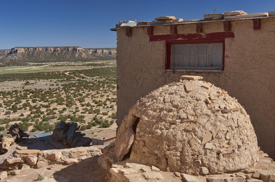 Horno, adobe-built outdoor oven in Acoma Pueblo (Sky City)
