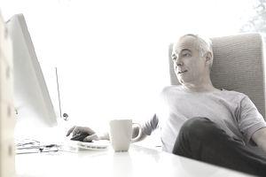 Man working on a web affiliate program