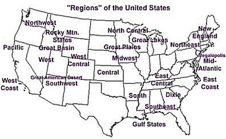 Regions Of The United States - The great plains on us map