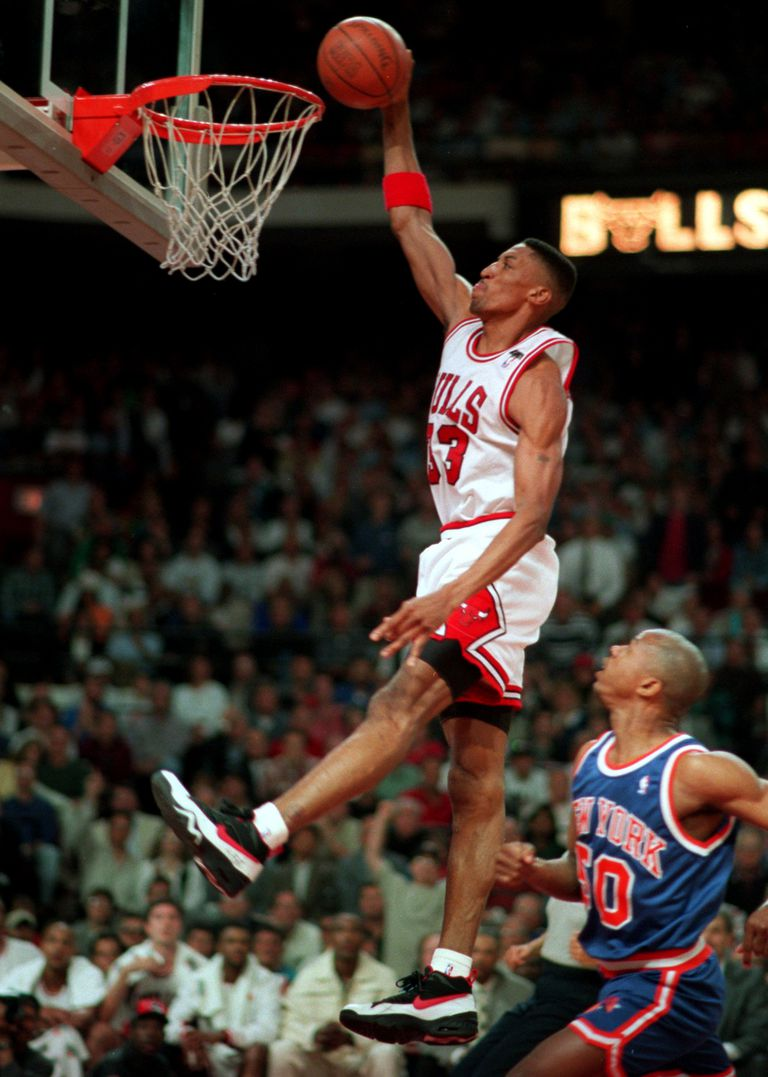 Scottie Pippen wearing Nike Air Swift