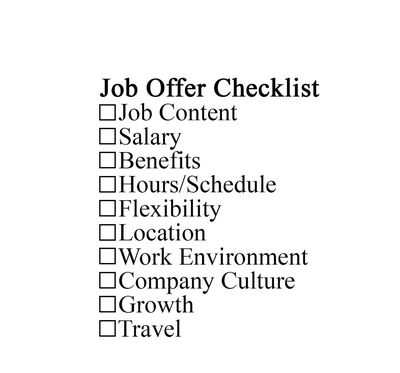 Things To Consider Accepting A Job Offer Things To Consider Before