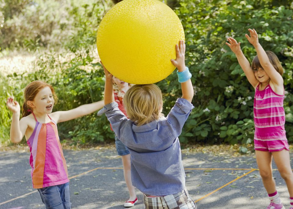 Younger grandchildren will enjoy four square ball.