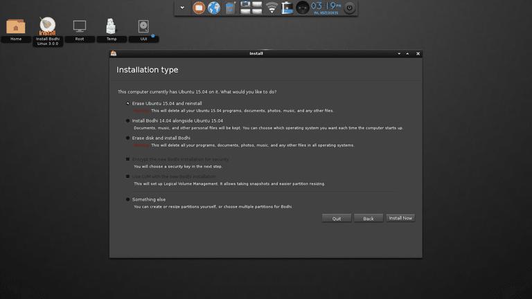 ubuntu installation guide something else
