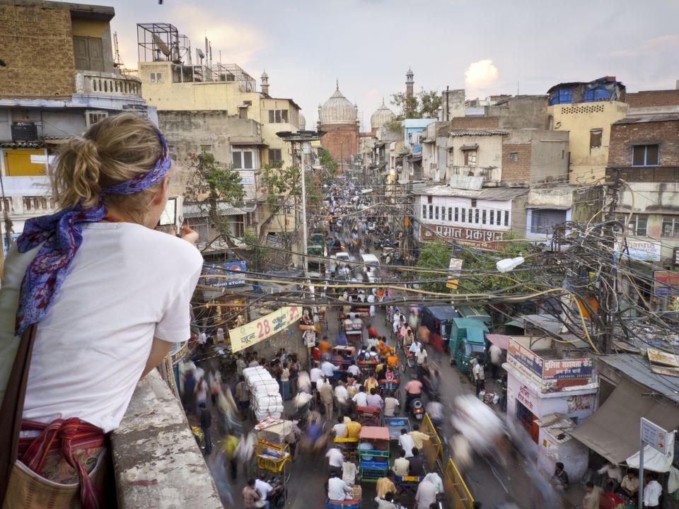 Tourist in Delhi.
