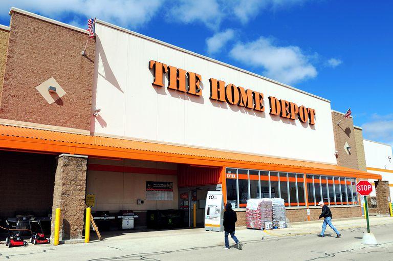 Home Depot franchise storefront