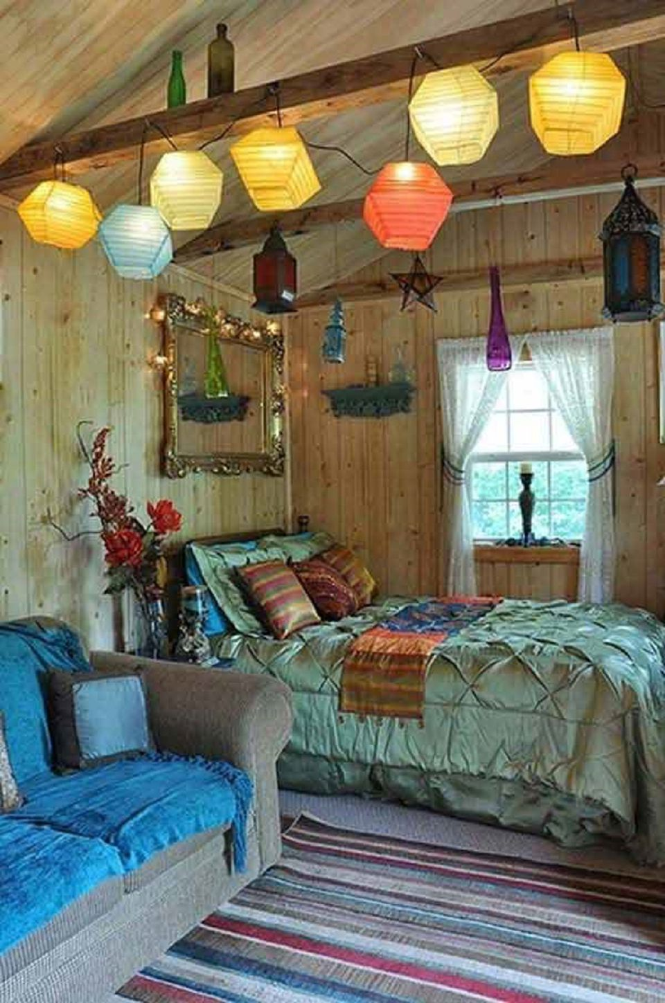 Beautiful boho bedroom decorating ideas and photos for Ideas para decorar habitacion hippie
