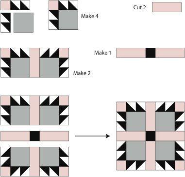 Bear's Paw Quilt Block Pattern : bear claw quilt pattern - Adamdwight.com
